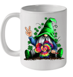 White Mug Hippie Gnomes Hippie Clover St Patrick's Day Premium Sublime Ceramic Coffee Mug Y97