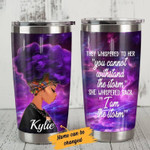 Personalized Storm black woman Gift for lover Day Travel Tumbler All Over Print TL97