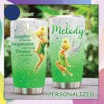 Personalized Tinkerbell laughter is timeless imagination has no age dreams are forever Gift for lover Day Travel Tumbler All Over Print TL97