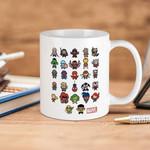 White Mug Marvel  Kawaii Heroes Premium Sublime Ceramic Coffee Mug Y97