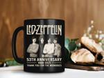 Black Mug LED ZEPPELIN Rock Band 53th 1968-2021 Anniversary Mug Led Zeppelin Lover Gift Rock Band Mug Premium Sublime Ceramic Coffee Mug H99