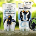 Penguin Couple Personalized Gift for lover Day Travel Tumbler All Over Print TL97