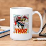 White Mug Marvel Comics Thor Panels Premium Sublime Ceramic Coffee Mug Y97