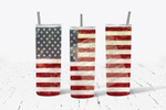 American Flag with Star Spangled Banner music 514 gift for lover Skinny Tumbler TL97