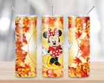Minnie disney Maple leaves movies 358 gift for lover Skinny Tumbler TL97