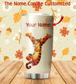 Customized Tiger winnie the pooh red maple leaf Gift for lover Day Travel Tumbler All Over Print TL97