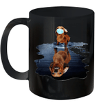 Black Mug Dachshund Dog Water Premium Sublime Ceramic Coffee Mug Y97