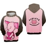 Piglet cartoon winnie the pooh smile for man and women 3D all over printed shirt hoodie Y97