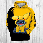 Pokemon x Lilo and Stitch 3D Hoodie Zip Hoodie N98
