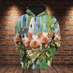 Three Little Pigs Love Farm 3D All Over 3D Hoodie Sweatshirt Zip Hoodie T shirt VA95