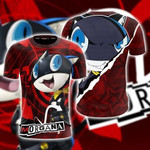 Persona 5 Morgana 3D T Shirt  All Over Printed For Man And Woman G95
