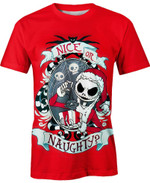 Jack Skellington Santa The Christmas Before Nightmare For Man And Women  3D T Shirt  All Over Printed Y97