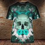 Humming birds skull flowers for man and women 3D T shirt all over printed Y97
