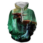 World of Warcraft Elf Dragon Fantasy 3D All Over Printed Shirt Hoodie G95