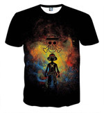One Piece Luffy Straw Hat Pirate Crew Symbol Skull 3D T Shirt  All Over Printed G95