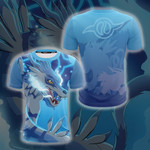 Digimon Garurumon 3D T Shirt  All Over Printed For Man And Woman G95