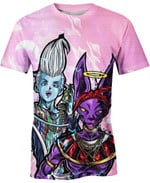 Beerus And Whis For Man And Women 3D T Shirt  All Over Printed G95