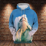 Shark Deadly Beauty Ocean Animal 3D All Over For Shark Lovers 3D Hoodie Sweatshirt Zip Hoodie T shirt VA95