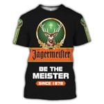 Jagermeister Cross Gof Hunting Deer Be The Meister Since 1878 Birth Day Gift Animals 3D Hoodie Sweatshirt Zip Hoodie T shirt G95