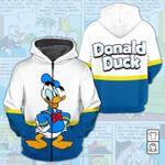 Cartoon Character Donald Duck 3D All Over Printed Shirt Zip Hoodie G95