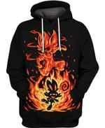 Scorbunny and Cinderace  Anime Manga 3D All Over Printed Shirt Hoodie Y97
