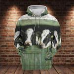 Cows Looking Through Window 3D All Over For Farm Lover 3D Hoodie Sweatshirt Zip Hoodie T shirt VA95
