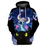 Stitch And Toothless Dragon Httyd  3d All Over Printed Shirt Hoodie Y97