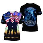 USMC American FLag Memorialday Gift Veteran All Gave Some Honor Service Sacrifice 3D Hoodie Sweatshirt Zip Hoodie T shirt G95