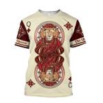 Lion Queen Poker For Man And Women 3D Hoodie Sweatshirt Zip Hoodie T shirt Y97