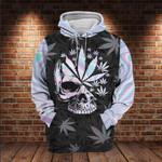 Skull Rose Hologram 3D All Over 3D Hoodie Sweatshirt Zip Hoodie T shirt VA95
