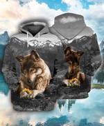 Wolf With Flower For Men And Women 3D Hoodie Zip Hoodie Y97