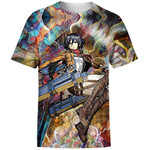 Focused Mikasa For Man And Women 3D T Shirt  All Over Printed G95