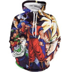 Dragon ball z the z fighters heroes pullover 3D All Over Printed Shirt Hoodie G95