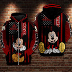 Mickey mouse movie disney 4th july day independence day for man and women 3D all over printed zip hoodie Y97