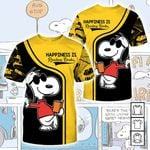 Cartoon Character Snoopy Happiness 3D All Over Printed T Shirt G95