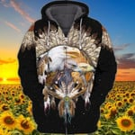 Native Fride Eagle For Men And Women 3D Hoodie Zip Hoodie Y97