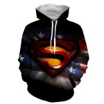 Superman Movie Marvel American Flag  For Man And Women 3D All Over Printed Shirt Hoodie Y97