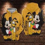 Pluto Mickey mouse walt disney for fan 3D Zip Hoodie H94