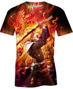 Rengoku Kyojuro Breath of Flames For Man And Women 3D T Shirt  All Over Printed G95