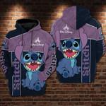 Stitch cartoon lilo and stitch walt disney 4 for man and women 3D Hoodie Zip Hoodie Y97