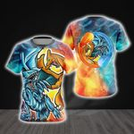 Yugioh  Charizard vs Blue Eyes White Dragon For Man And Women 3D T Shirt  All Over Printed Y97