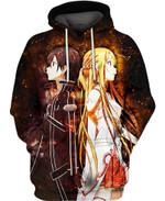 Asuna Yuuki and Kirito For Man And Women 3D All Over Printed Shirt Hoodie Y97