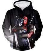 Marvel universe deadpool and death 3D All Over Printed Shirt Hoodie G95