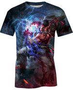 Evil Ryu Street Fighter For Man And Women 3D T Shirt  All Over Printed G95