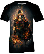 Roronoa Zoro Three Swords One Piece For Man And Women  3D T Shirt  All Over Printed Y97
