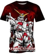 Rx 0 Unicorn Gundam For Man And Women 3D T Shirt  All Over Printed G95