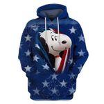 Snoopy american flag 3D Hoodie Zip Hoodie For Man And Woman G95