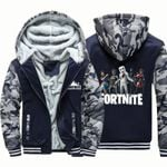 Kids Fortnite Camouflage Over Print 3D Hoodie Fleece Zip Hoodie 2 H99