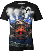 Howl's Moving Castle Vintage For Man And Women  3D T Shirt  All Over Printed Y97