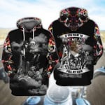 If you want to ride mu ass at least pull my hair boiker lady skeleton motorcycles  3D All Over Printed Shirt Hoodie G95
